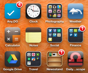 Still having mixed feelings on organizing apps into folders. #whitewhine